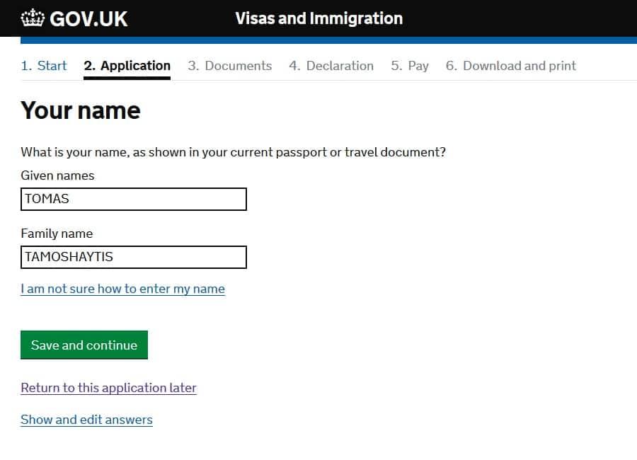 Пример заполнения Анкеты на Визу в Англию