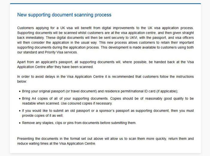 Информация о новых правилах сдачи заявления на визу в Англию