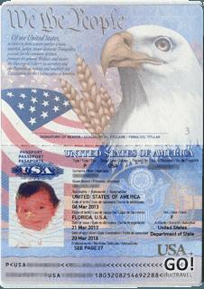 Американский паспорта для ребенка